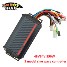 цена на 48V 64V 350W Three Mode Sine Wave 6 Tube Electric Vehicle Controller Two Wheeler DC Brushless Controller Accessories