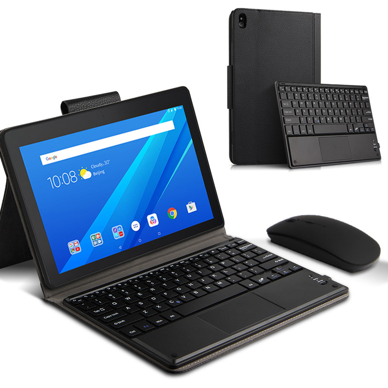 Case For Lenovo Tab 4 10 Plus Case TB-X704F / X704N 10.1 Inch Tablet Magnetically Detachable Bluetooth Keyboard Case Cover