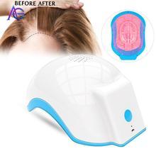 Novo Portátil LED Anti perda de cabelo crescimento Do Cabelo CAPACETE