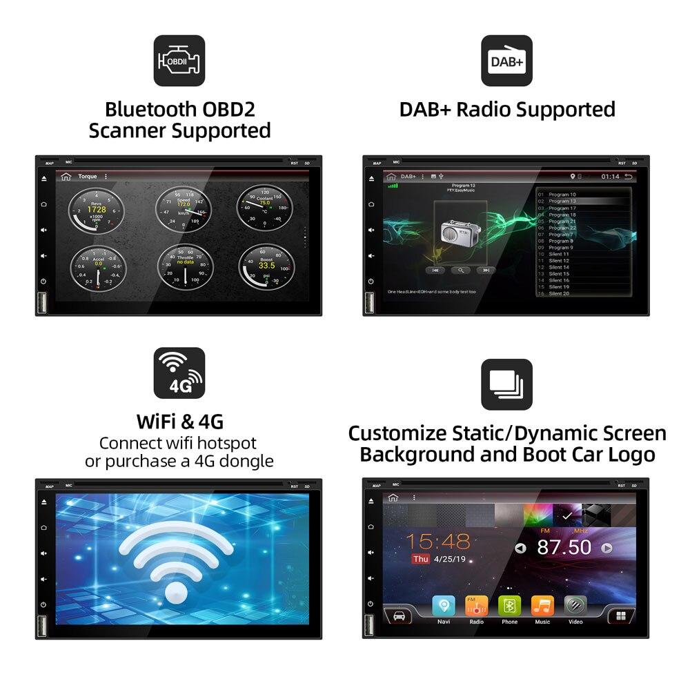 Bosion Octa Core 2 din android 10 samochodowy odtwarzacz multimedialny dvd uniwersalny 2din GPS Navi audio radioodtwarzacz radiowy wifi PX6 4G 64G