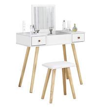 Белый туалетный столик набор для макияжа с откидной крышкой