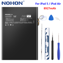 Nohon For Apple iPad 5 Battery Replacement Bateria Tablet A1484 A1474 A1475 8927mAh for iPad Air Battery Lithium Polymer Batarya