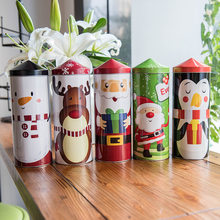 Christmas Creative Gift Boxes Candy Tin Package Case Santa Claus Snowman Elk Penguin Printed Packing Boxes Festival Decors 3 Pcs(China)