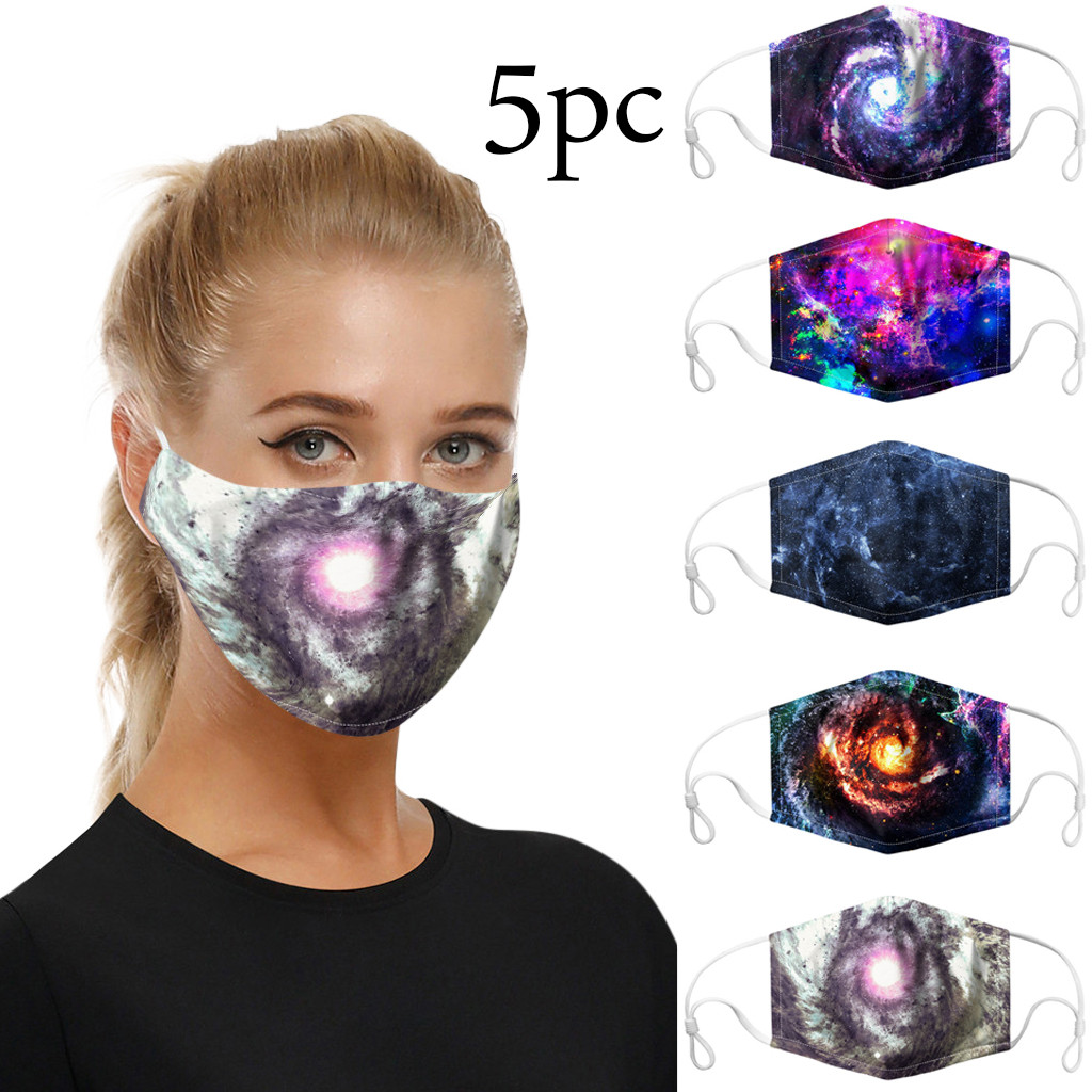 5PCS Reusable Cotton Mouth Face Cover Comfortable Anti-Dust Anti-saliva Anti Infection Anti-droplets Splash-proof Windproof