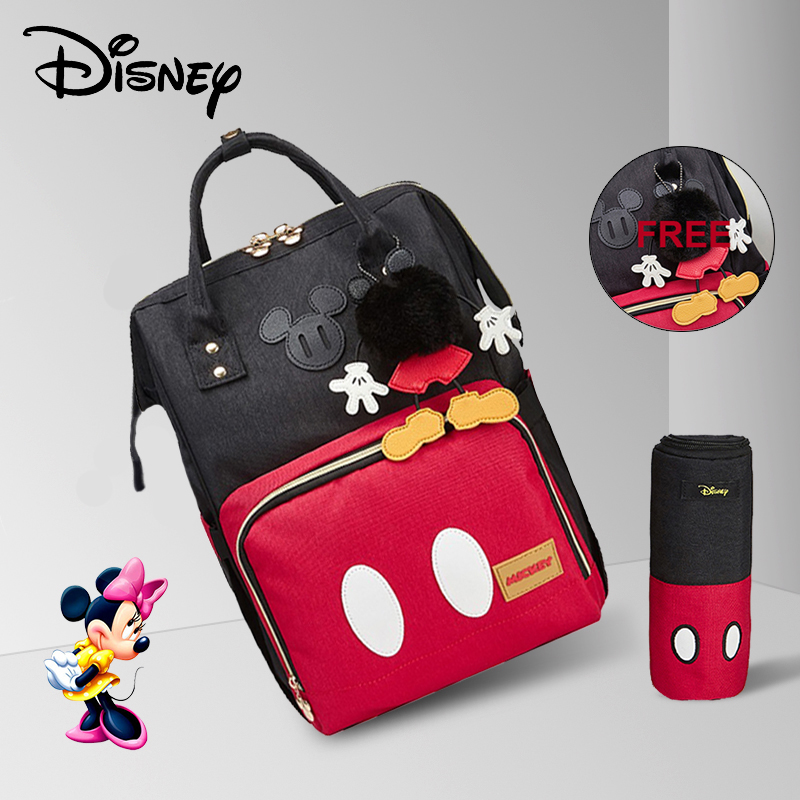 Disney Free 3D Doll Diaper Bag Backpack With Hook For Stroller Maternity/Nappy Bag Large Capacity Baby Bag Insulation Bag Red
