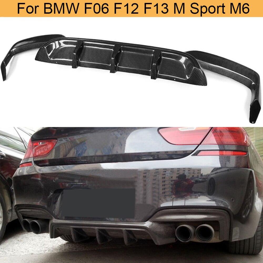 Выхлопной трубы из углеродного волокна для M6 диффузор, губа на задний бампер для BMW серий 6 F06 F12 F13 M спортивные M6 2012-2016 Кабриолет 640i 650i