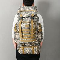Camouflage Backpack Hiking Camping Bag Army Military Tactical Trekking Rucksack Backpack Camo 80L