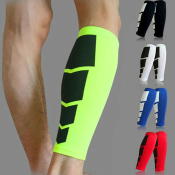 1 Pair Men Compression Cycling Legwarmers Running Tights Leggings Sports Soccer Basketball Leg Sleeve Fitness Football Shinguard image