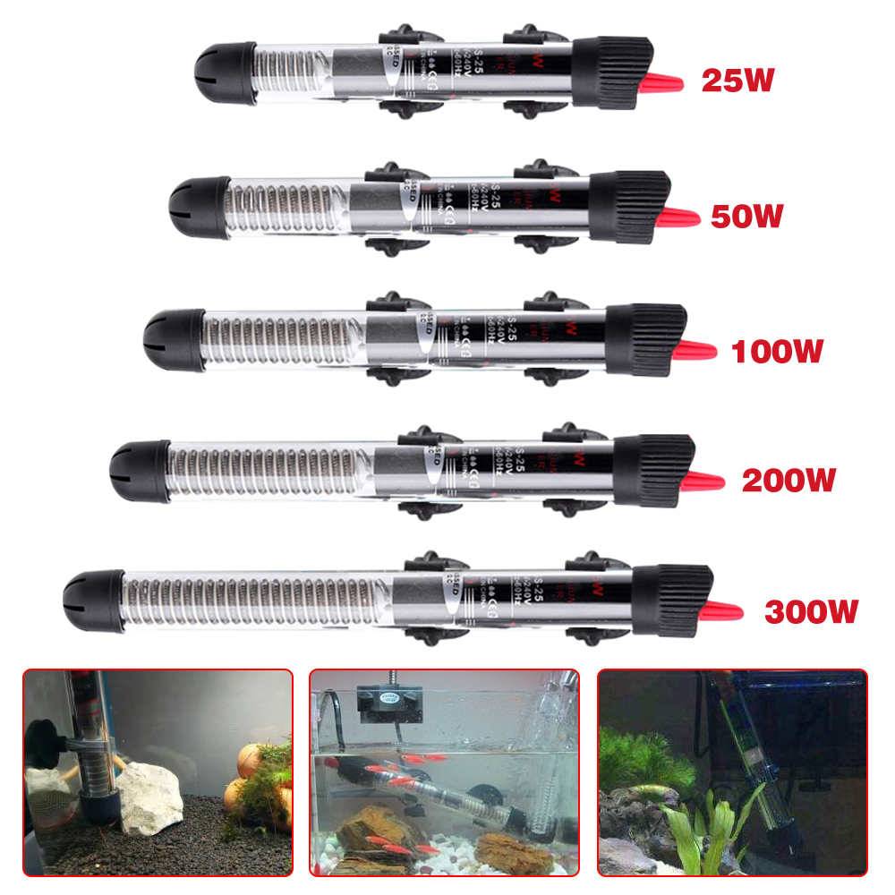 1pc Automatic Constant Temperature Heating Rod Power Saving Heater Aquarium Heater Fish Tank Water Aquarium Accessories