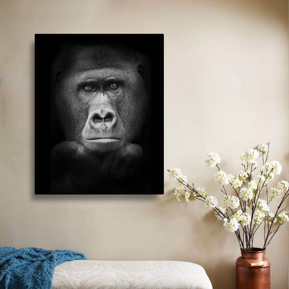 Laeacco Mordern Gorilla холст живопись каллиграфические плакаты и принты настенные художественные картины для гостиной спальни украшения дома