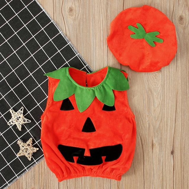 Baby Pumpkin Romper Costume 5