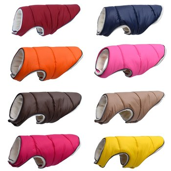 Warm Winter Dog Clothes Reflective Puppy Clothing Vest Comfortable Fleece Pet Jacket  Coat For Small Medium Large #15