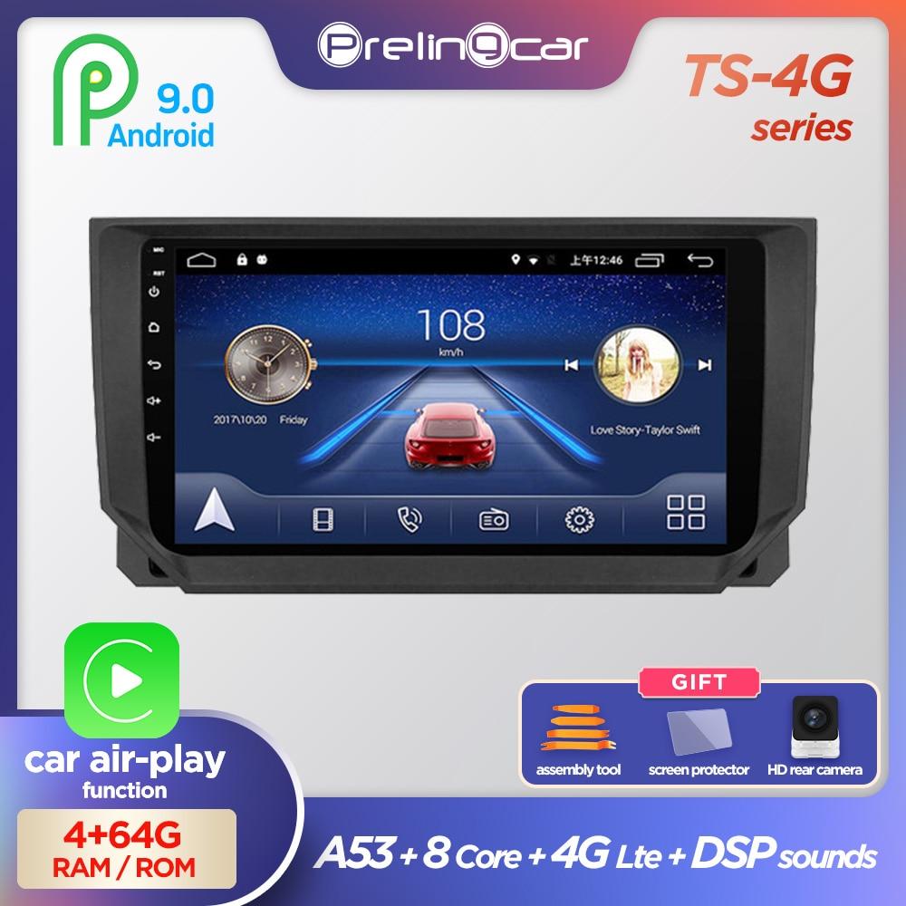 Prelingcar For Seat Ibiza 6j 2009 10 11 12 13 Auto-Android 9.0 Car Monitor Radio Multimedia Video Player Navigation GPS Stereo