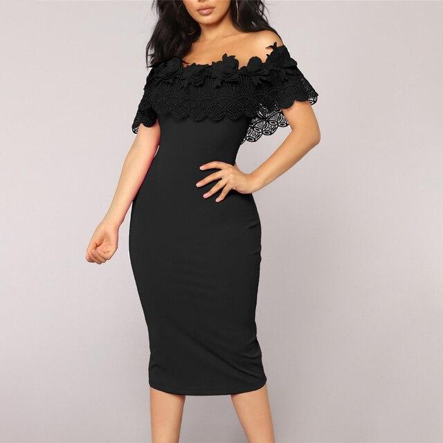 Elegant Off Shoulder Lace Dresses 6