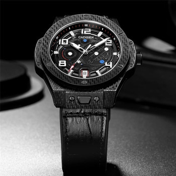 CADISEN New Mechanical Watch Men Sports 100M Waterproof  Luxury Brand Japan NH35A Carbon Cellulosic Automatic Watch Reloj Hombre 1
