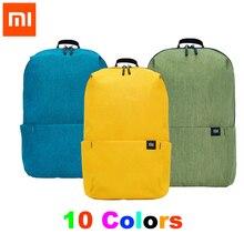 100% xiao mi mi 배낭 10l 가방 10 색 165g 도시 레저 스포츠 가슴 팩 가방 남성 여성 소형 숄더 백