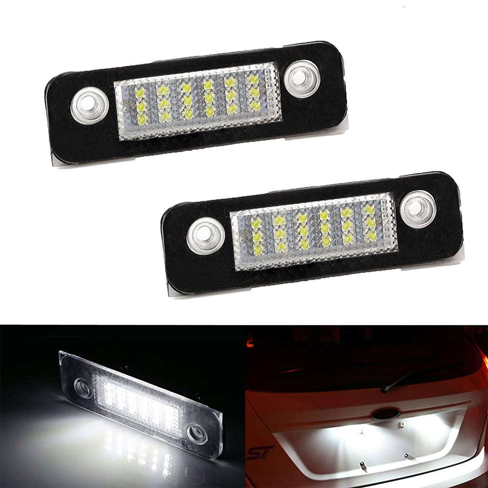 6000K White Car LED Number License Plate Lamp For Ford Fusion Fiesta Mondeo MK2 96.08-00.0 License Plate Light