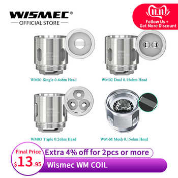 Original wismec WM01 Single 0.4ohm /WM02 Dual 0.15ohm  /WM03 Triple 0.2ohm/WM-M Coil head for Gnome Kit - DISCOUNT ITEM  9% OFF All Category