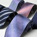 Boxed 9.5 cm 100% natural gravata de seda para homem gravata clássico gravata de pescoço genuíno seda homem gravata listras geométrica noivo festa de casamento