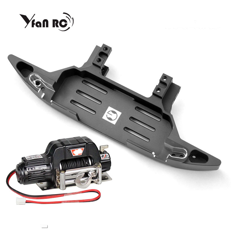 Free Shipping GRC Metal Front Bumper Base Suitable For Desert TRX6 TRX4 G G63 Steering Gear Front Built-in Winch Front Bumper Yf