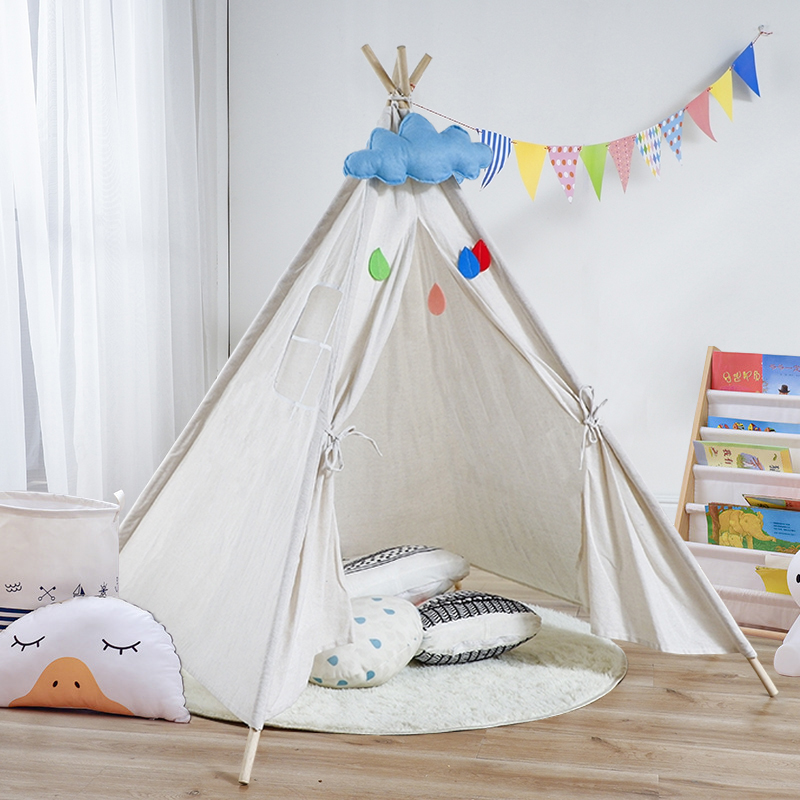 2021 Folding Children's Tent Play House for Children Tipi Teepe Outdoor Indian Camping Tents Room decor Toys for Girls Kids
