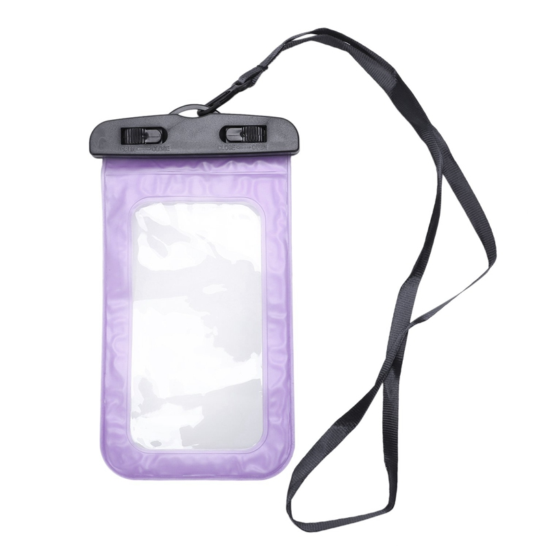 Super Sell-Universal Waterproof Swimming Bags Pouch Cell Phones Portable Bag Convenient To Use Lightweight Useful,Purple