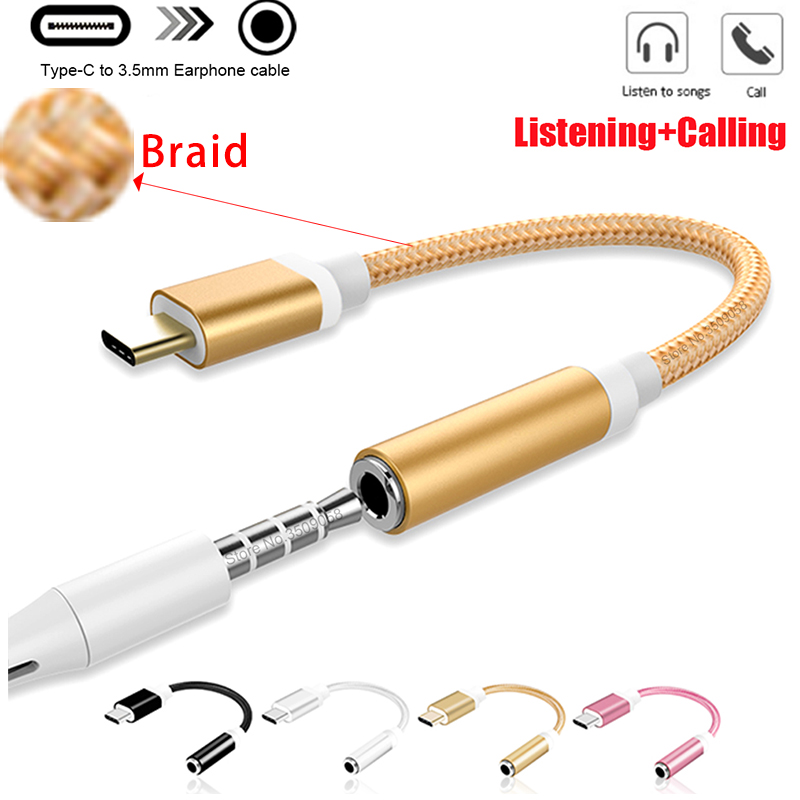 Type-C To 3.5mm Jack Converter Earphone Audio Adapter Cable Type USB C To 3.5 Mm Headphone Aux Cable For Huawei P20 Lite Mate 20