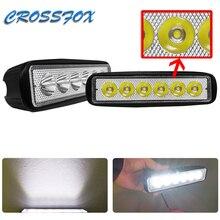 18W 12 V LED Light Bar LED Work Light Car Spotlight Flood Lamp Car Driving Fog Offroad Trucks Lamp LEDS Beams Running Spot Light цена в Москве и Питере