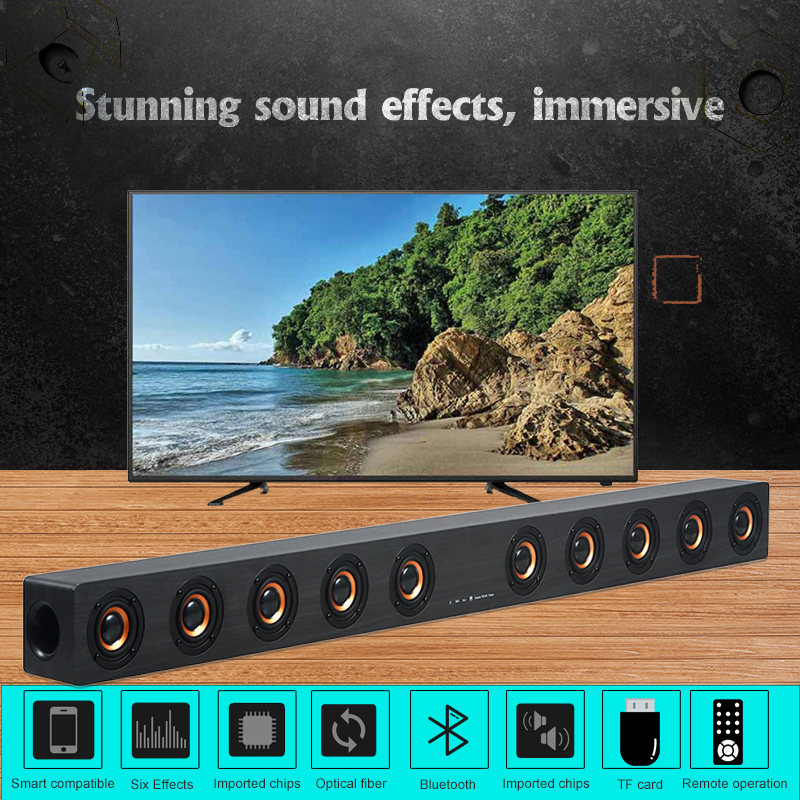 40W Bluetooth Speaker Hifi home surround system stereo cable and wireless PC cinema TV speaker subwoofer RAC AUX|Soundbar| – AliExpress