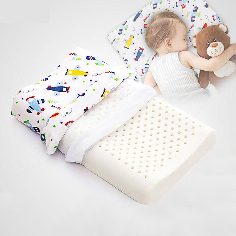 peter khanun kids pillow thailand natural latex baby bed pillows for sleeping cartoon printing children pillows for 0 12 years