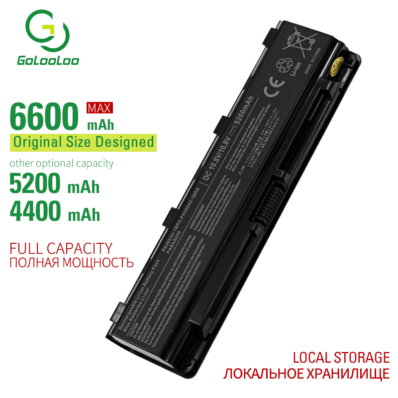 Golooloo 6 Cells Laptop Battery For Toshiba Satellite Pro C800 C800D C805 C840 C845 C850 C855 C870 C875 L800 L805 L830 L835