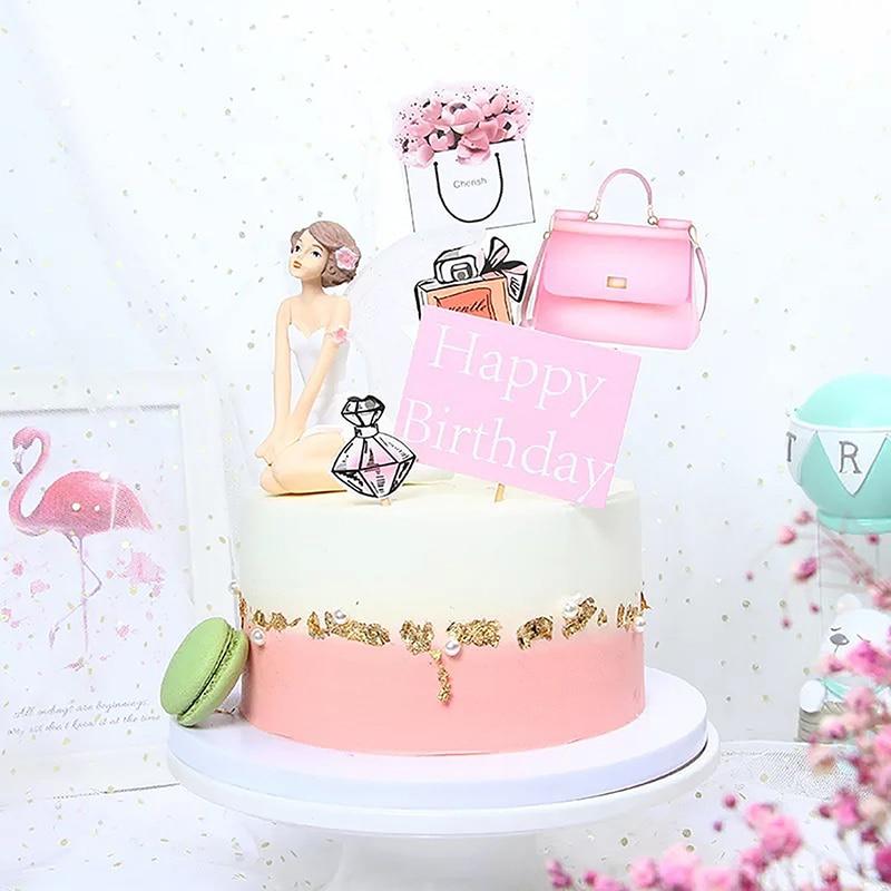 Awesome Pretty Girl Bikini Birthday Cake Topper Diy Cupcake Decoration Funny Birthday Cards Online Kookostrdamsfinfo