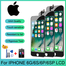 AAAA Grade For iPhone 6 6S 6Plus 6S Plus LCD With 3D HD Touch Screen Digitizer Assembly For iPhone 6 LCD+Tempered Glass+Tools laptop lcd screen for chi mei n156bge e21 rev c1 15 6 30 edp wxga hd
