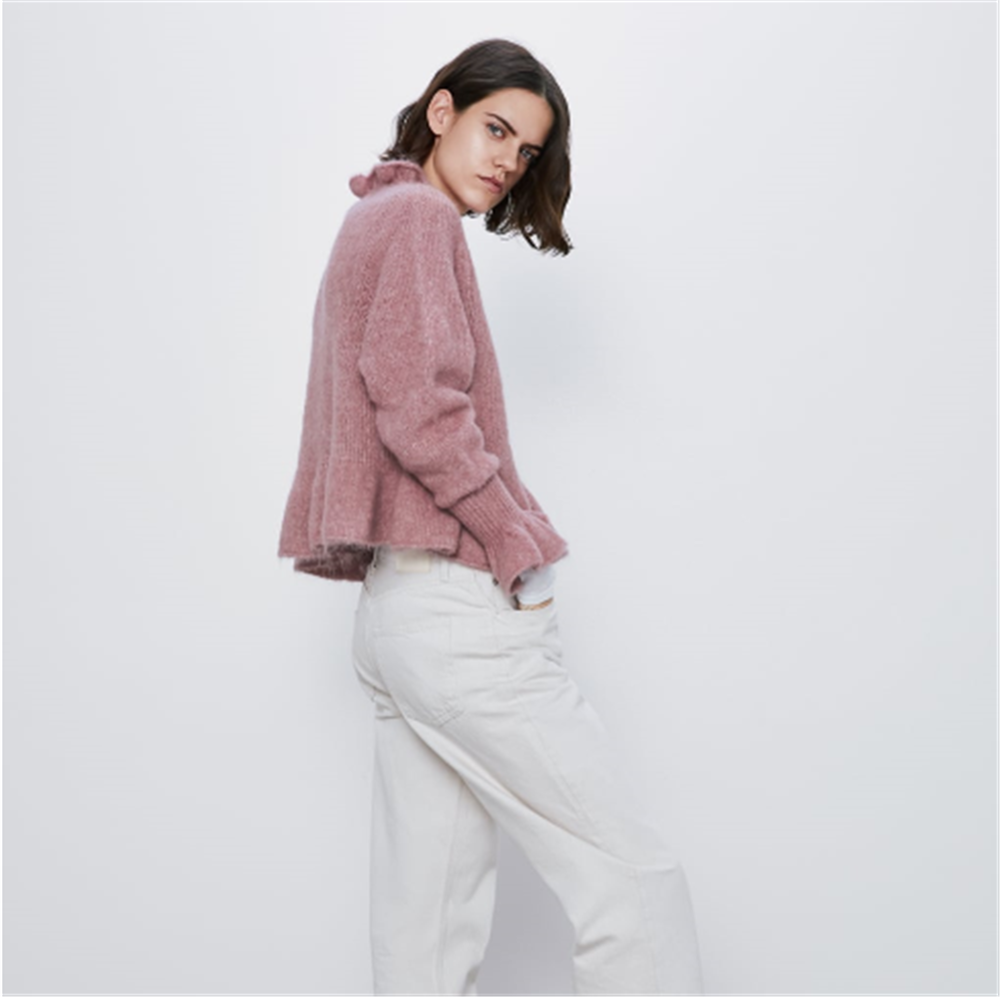 2019 za 여성 스웨터 패션 새로운 겨울 인쇄 스웨터 보헤미안 여성 긴 소매 라운드 넥 스웨터 파티 선물