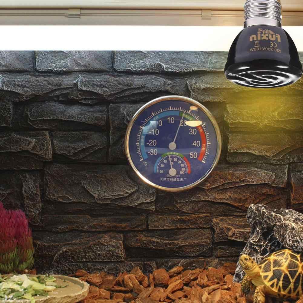 E27 lampe de chauffage pour animaux de compagnie infrarouge en céramique lézard tortue araignée Reptiles boîte chauffage plus chaud ampoule de chaleur couveuse 25W 50W 75W 100W 220V