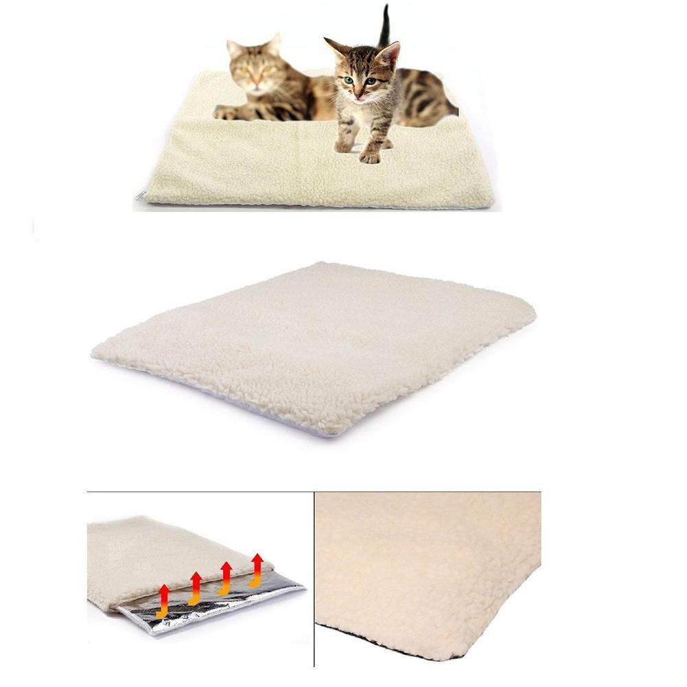 Winter Dog Bed Self Heating Pad Pet Warming Washable Cushion Bed For Medium Large Dogs And Cats Pets