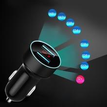 Adapter Car-Charger Dual-Usb KEBIDU for Smart-Phone/Table Digital Led-Voltage/current-Display