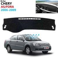 Dashboard Cover Protective Pad for Chery A5 Fora Alia Elara MVM 520 530 Vortex Estina Car Accessories Sunshade Dashmat Carpet