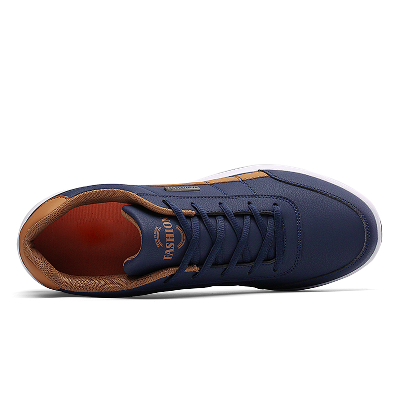 2021 Leather Men Shoes Sneakers Big Size 48 Men Casual Shoes Italian Breathable Leisure Male Non-Slip Footwear Vulcanized Shoes 5