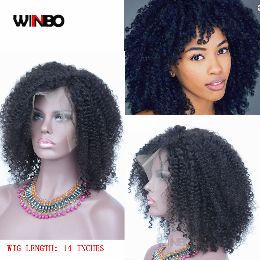 WINBO Pro-Cut Wig Jerry Curly 13x6 Lace Frontal Wigs Remy Hair Black Women Wigs 13x4 Lace Front Wigs Natural Black Color