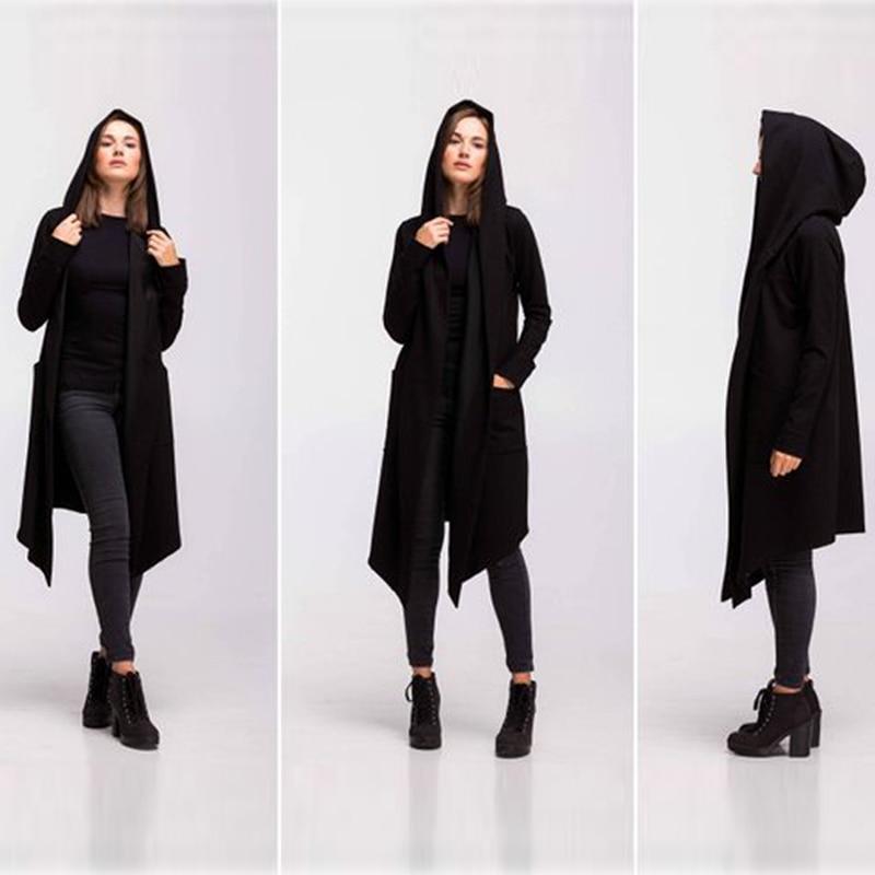 H6fb65a702f244f9fb409df4499758bdcm Women Men Long Coats Burning Man Warm Casual Fashion Solid Thick Cosplay Hooded Jacket Coat Outwear Plus Size