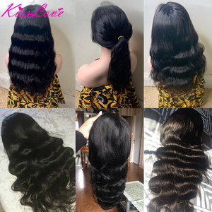 Image 3 - Full Lace Human Hair Wigs for Black Women Preplucked Bleached Knots Full Lace Wigs Brazilian Body Wave Wigs Remy Hair Kiss Love