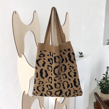 2020 새로운 브랜드 레오파드 여성 가방 한국어 스타일 숙 녀 어깨 가방 동물 인쇄 여성 핸드백 모직 중간 가방 전체 판매