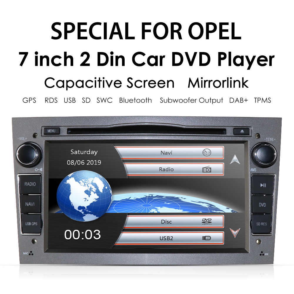 "7 ""2 din автомобильный DVD стерео для Vauxhall Opel Astra H G Vectra Antara Zafira Corsa gps Navi Радио 3 цвета рулевое колесо Бесплатная камера"