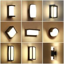 IP65 Wasserdichte Led Wand Lampe LED Garten Lampe Gang Korridor Balkon Im Freien Veranda Licht AC110V 220V Terrasse Lampe Für outdoor
