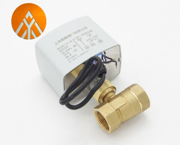 Ac220V 2 Way 3 Wires Motorized Ball Valve Electric Actuator With Manual Switch 3-Wire Two Control Electric Actuator