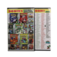 32 Bit Video oyunu kartuşu konsolu kart 369in 1 derleme İngilizce dil Nintendo GBA