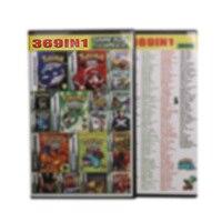 Cartucho de 32 bits para consola Nintendo GBA, 369in 1, en inglés