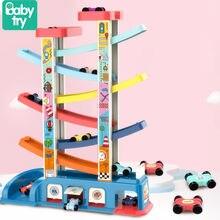 Carros de corrida pista parque de estacionamento brinquedos para crianças meninos planar escada veículos diy educação natal presentes aniversário juguetes para crianças
