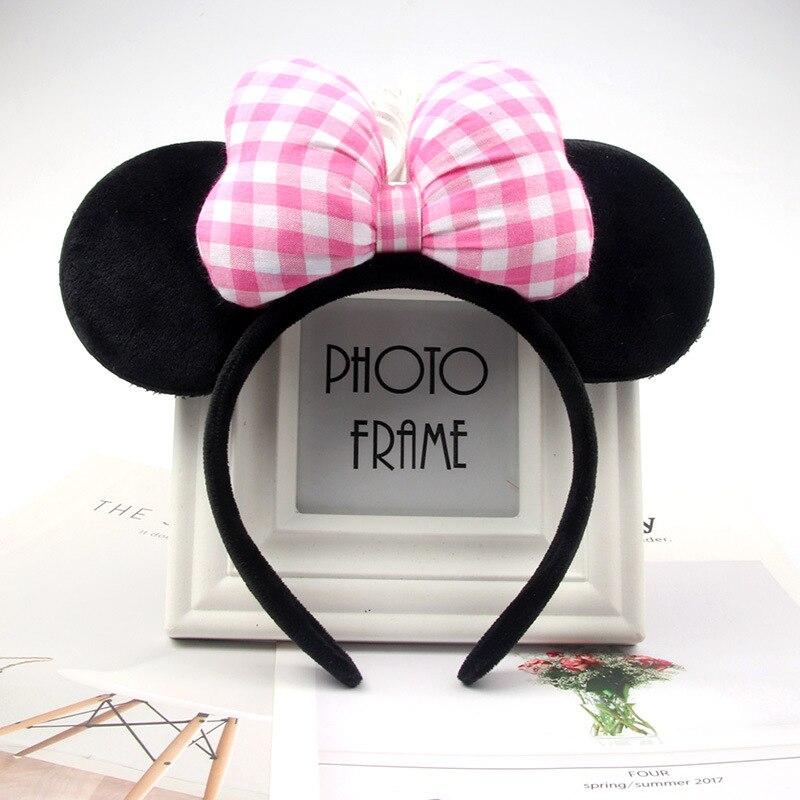 Рождество Микки повязка на голову, Минни-Маус и повязка на голову розового цвета со стразами заколки для волос в форме бантиков для девочек оленьи рога, для волос аксессуары для День рождения - Color: 22